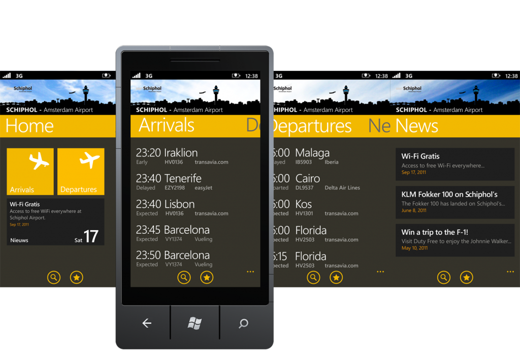 m2mobi schiphol app for windows phone 7